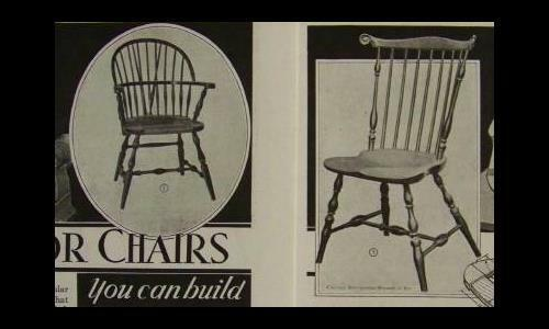 WINDSOR CHAIR 1935 How-To Build PLANS Bow & Fan Backed