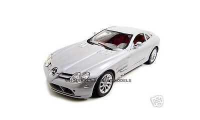 MERCEDES MCLAREN SLR SILVER 1:12 DIECAST MODEL CAR BY MOTORMAX  73004