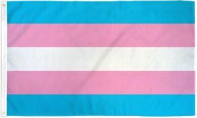 Transgender Pride Flag 3x5ft with Grommets LGBTQIA Trans Pride