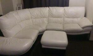 Dfs White Leather Sofa