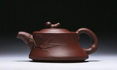 Chinese Yixing zisha teapot handmade Bamboo teapot 180cc