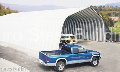 Durospan Steel 25x30x12 Metal Building Equipment Shed Open Ends Factory Direct