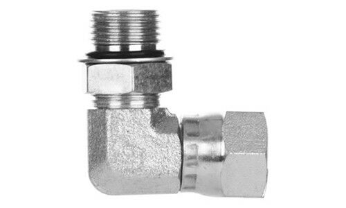 6809-10-08 Hydraulic Fitting 7/8 O-Ring X 1/2 Female JIC Swivel 90°