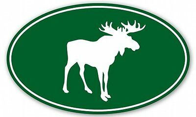 Moose Oval Car Vinyl Sticker - SELECT SIZE - Oval Vinyl Sticker