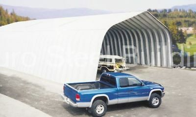 Durospan Steel 40x60x18 Metal Arch Storage Building Kit Open Ends Factory Direct