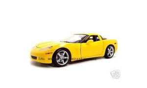 2005 CHEVROLET CORVETTE C6 COUPE YELLOW 1:18 DIECAST MODEL CAR BY MAISTO 31117