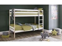 📛Glorious Design📛NEW SINGLE WHITE WOODEN BUNK BED -- WHITE AND PINE COLOURS