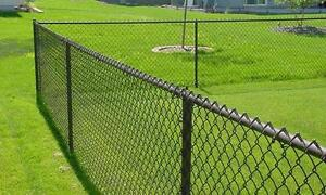 40 ft black chain link fence with gate