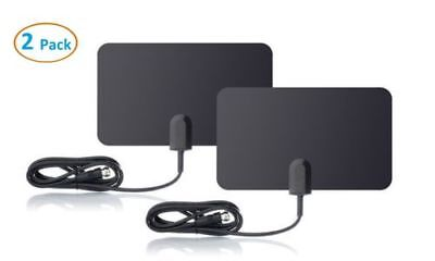 2 HDTV 1080 Digital Indoor Antenna Improved AS SEEN TV clear HD amplified Pack