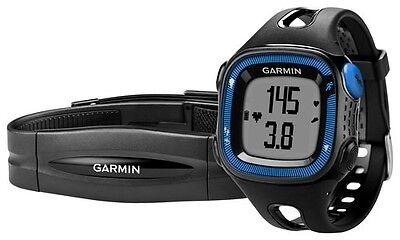 Garmin Forerunner 15 Black Blue Running Watch W Hrm    010 01241 40   Brand New
