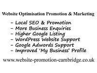 Website Optimisation (SEO) Promotion & Marketing | Ely Cambridge