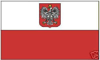 Poland Polish Empire Royal Flag Banner Eagle Heraldry COA Crest EU Arms Imperial