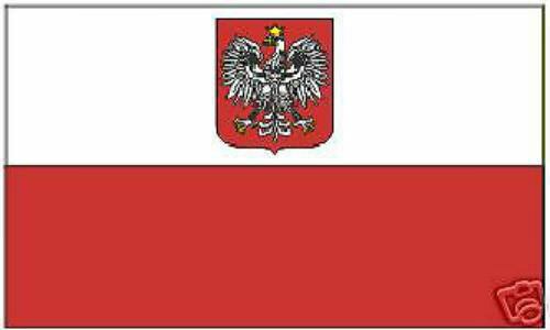 Poland Polish Empire Royal Flag Banner Eagle Heraldry COA Crest EU Arms Imperial
