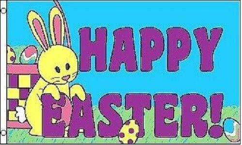3x5 Happy Easter Flag Easter Bunny Banner Poyester grommets