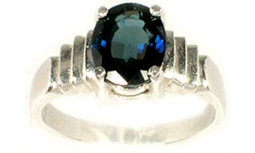 Antique 19thC 2¾ct Sapphire Gemstone of Ancient Roman Saturn God of Abundance
