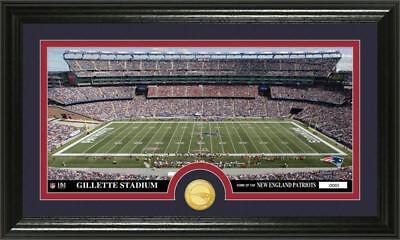 Gillette Stadium Framed - Patriots Gillette Stadium Panoramic Framed Team Photo