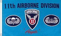 11 Airborne División De 12.7cmx7.6cm Bandera Ee.uu. Militar Ejército -  - ebay.es