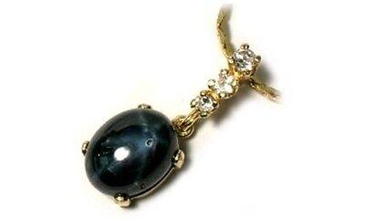 Antique 19thC 5¾ct Sapphire Gem of Ancient Celt Sorcery Oracles Prophecy 14ktYG