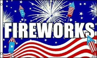 3x5 FireWorks 4th of July Flag 3'x5' House Banner US SELLER (#2)