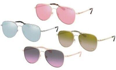 NEW Michael Kors San Diego Women's Aviator Sunglasses - Gold