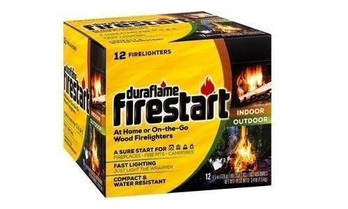 DURAFLAME 4841 FIRESTART 12 PACK FIRE LOG STARTER FIRELIGHTER WOODSTOVE FASTSHIP
