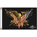 2ND AMENDMENT WITH EAGLE AND FLAG DELUXE 3X5 FLAG FL536 america patriotic usa