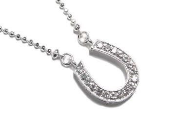 City Necklaces (Western Horseshoe Sex And The City  Horse Shoe Clear Crystal Chain Necklace)