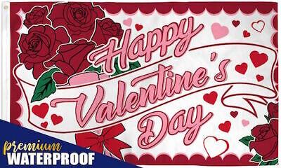 """HAPPY VALENTINE'S DAY ROSES"" 3x5 ft flag polyester premium"