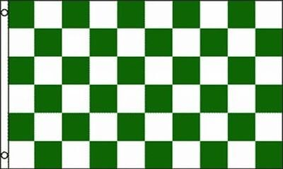 Green & White Checkered Flag 3x5 ft Checker Checkerboard Pattern Banner Sign