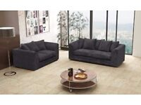 CHEAPEST EVER PRICE ON NEW DYLAN Jumbo Premium Fabric Corner/3+2 SEATER Sofa IN 9 DIFFERENT COLORS