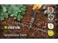 2 x 100L Bags of Verve Wood Bark Chippings (RRP: £19.92) Garden Landscape Bark