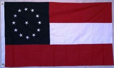 5x8 Embroidered Sewn Jefferson Davis Beauvoir 600D Nylon Flag 5'x8'