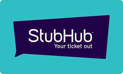 Stubhub Gift Card    25  50  100  150 Or  200   Fast Email Delivery