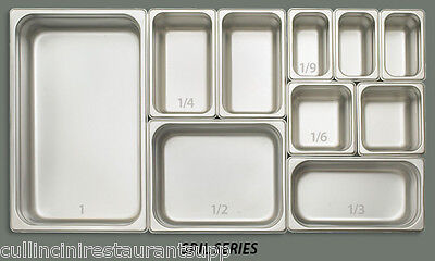 Hotel Steam Pan (ONE each Stainless Steel Pan Steam Food Hotel insert NSF Listed 18/8)