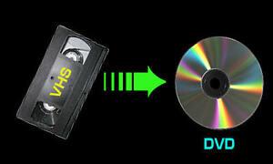 COPIE DE VHS SUR UN  DVD