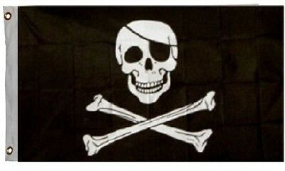 Jolly Roger Pirate Flag Ship Banner Skull Crossbones Pennant New 2x3 - Pirate Skull Jolly Roger