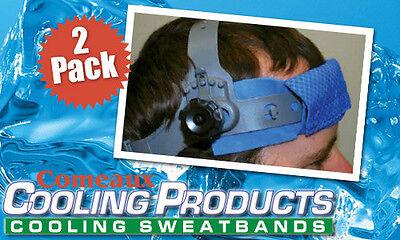 2 Packcooling Sweatband Comeaux Caps Hats Cool 15-20 Degrees Welding Helmet
