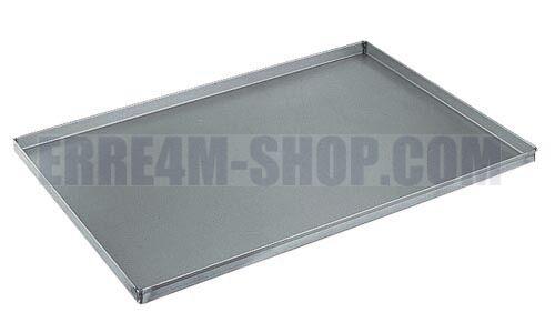 Teglia placca da forno 30x40x2(h.) cm. in lamiera alluminata (LS) professionale