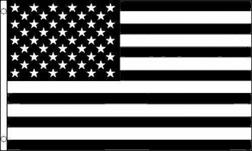 Black & White United States Flag 3x5 ft USA US BW B&W Americ