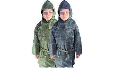 Kettenhemd set Kinder Kostüm Ritter Kettenhemd König Kettenhaube - Kinder Kettenhemd Kostüm