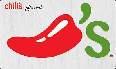 $50 Chili's Gift Card For Only $42.50! - FREE Mail Delivery