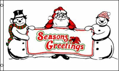 3x5 Merry Christmas Santa Claus Snowman Seasons Greetings Fl