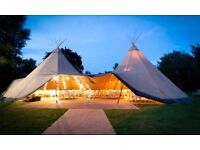 Wedding Reception Venue Hire Essex, Tipi Marquee, Stunning Views, Hay Bale Sofas - Secret Meadow