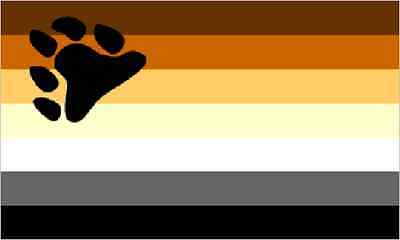 Gay Pride Bear Flag 5' x 3'