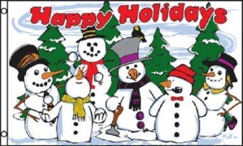 3x5 Snowmen Happy Holidays Flag Christmas Holiday Decoration