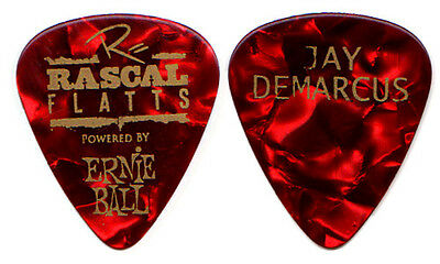 RASCAL FLATTS Guitar Pick : - 2012 Tour - Jay red pearl country music