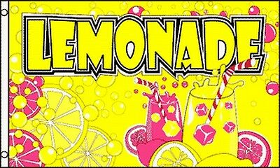 LEMONADE Flag 3x5 ft Advertising Sign Food Concession Drink Snack Bar Lemonaid (Lemonade Bar)