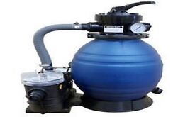 "0.33hp + 12"" Pump and Sand Filter Combo with Glass Media used"