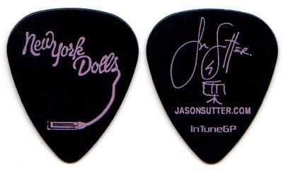 NEW YORK DOLLS Guitar Pick : Tour Jason Sutter pink black