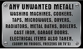 Scrap Metal and Old Appliances wanted please